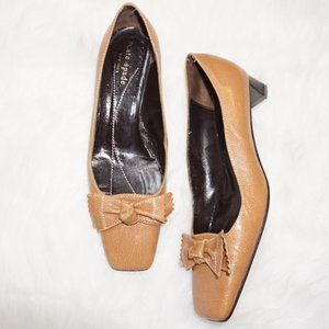 Kate Spade Leather Square Toe Pumps, Size 6